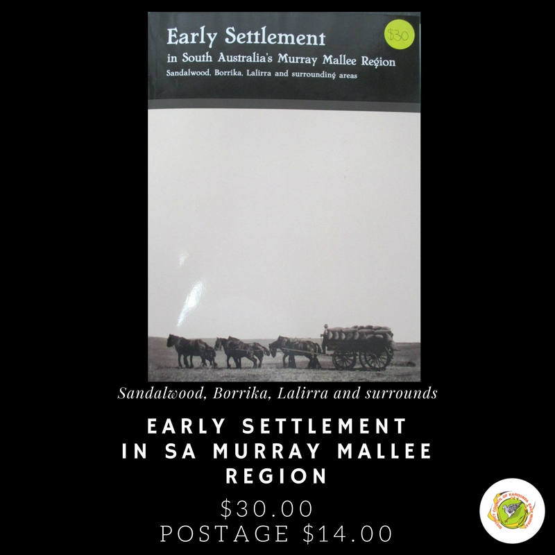 Book: Early Settlement in South Australia's Murray Mallee Region
